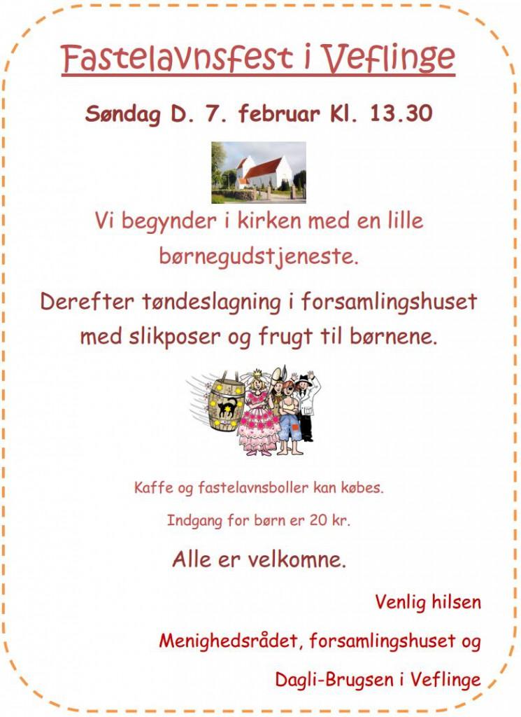 Fastelavnsfest i Veflinge 2016